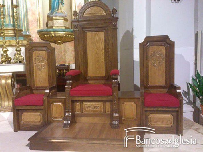 Sede el toboso for Sillas para iglesia en madera