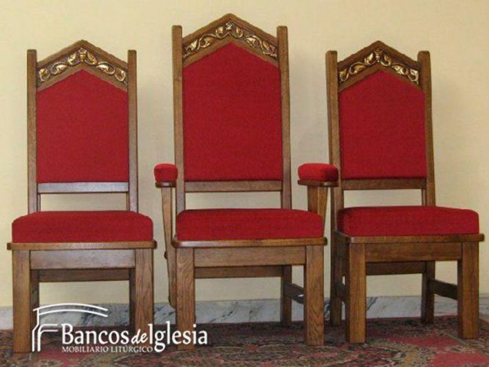 Sede roma for Sillas para iglesia en madera