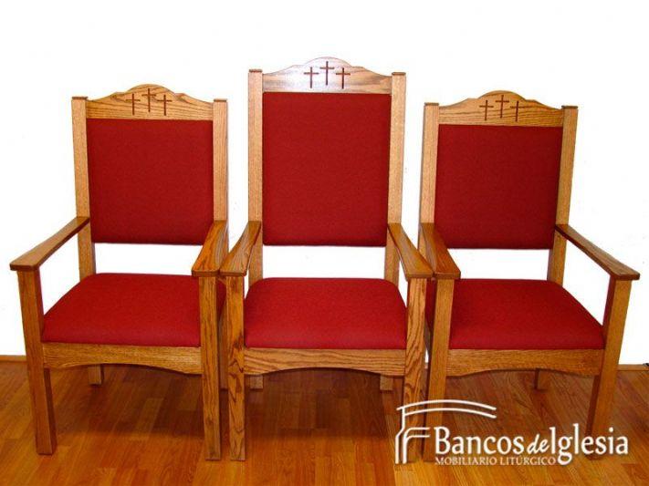 Sede orgaz for Sillas para iglesia en madera